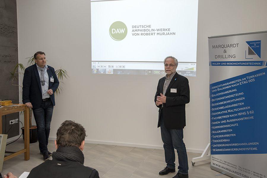 Info-Veranstaltung der Fa. Caparol zur Verwendung von Baustoffen aus Hanf